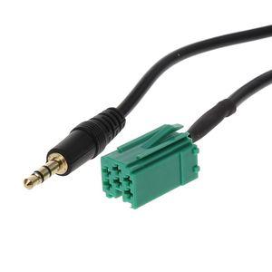 Image 3 - Adaptateur auxiliaire autoradio MP3 entrée Aux prise adaptateur câble de plomb avec clés Radio pour Renault 2005 2011 Clio Megane Laguna Modus