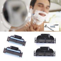 4pcs new 3 blades system men face shaving razor blade shaver razor refills blade maquiagem face.jpg 250x250