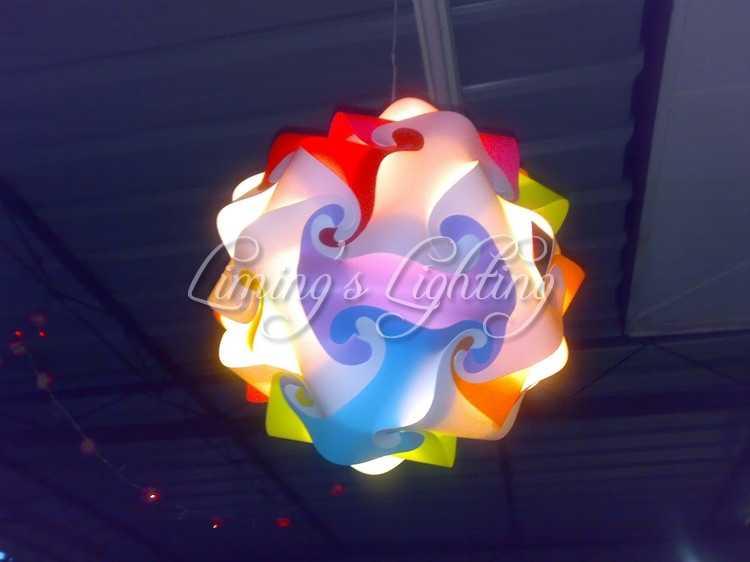 Разноцветные 25 см/30 см/40 см современные DIY элементы IQ головоломки ZE Потолочная люстра Подвесная лампа шар освещение 110-240 В