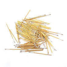 Spring Test Probe Total Length 27.8mm Outer Diameter 0.68mm100pcs Gold Plated For Testing Circuit Board Instrument Tool PL50-D