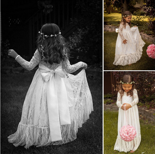 Popular Vintage Communion Dresses Long Sleeve-Buy Cheap Vintage ...