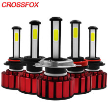 CROSSFOX 360 Degree Car LED H4 H7 9003 HB2 H8 H9 H11 9005 9006 HB3 HB4 LED 12V 6000K Vehicle Headlight Bulbs Auto Lamp 8000LM(China)