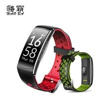 Спортивные смарт-браслет сердечного ритма Мониторы Фитнес трекер Bluetooth браслет IP68 Водонепроницаемый Одежда заплыва smartband для iOS и Android
