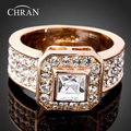 Chran Wholesale White Yellow Gold Plated Fashion Men Engagement Rings 10 and Greater size New Jewelry Russia