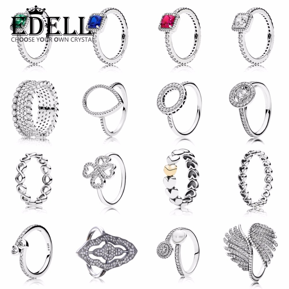 EDELL Topaz Engagement Wedding Ring Set 925 Sterling Silver Rings For Women Band Wedding Rings Promise Rings Bridal Jewelry tl unique engagement wedding ring set women s pair rings stainless steel double ring set for women bridal with large rhinestone
