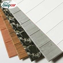 Self Adhesive 3D Wallpaper PE Foam Wood Pattern Wall Stickers For Bedroom Kids R