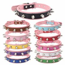 Traumdeutung Small Dogs Collars Accessories Spiked Supplies For Cats Pets Product Collars Chihuahua accessoire chien kopek tasma(China)