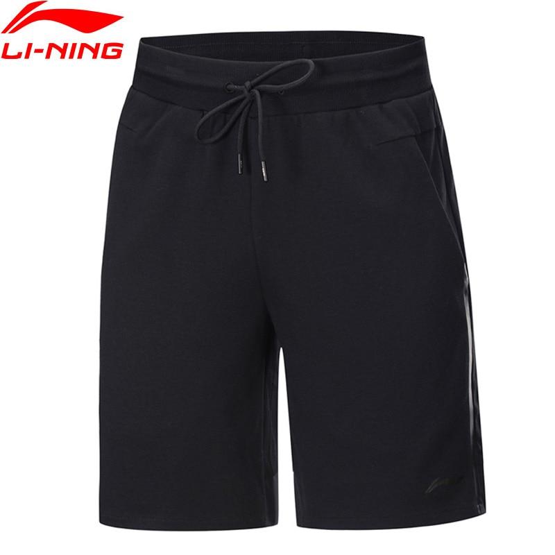 Li-Ning Men Training Sweat Shorts Cotton Polyester Spandex LiNing Li Ning Regular Fit Sports Shorts Bottoms AKSP077 MKD1636