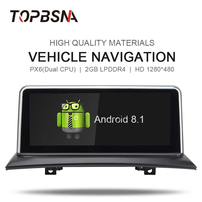 TOPBSNA 10 25 inch Android 8 1 Car DVD Player for BMW X3 E83 2004-2010 GPS  Navi WIFI Stereo BT 2GB RAM 32GB ROM Radio Autoradio
