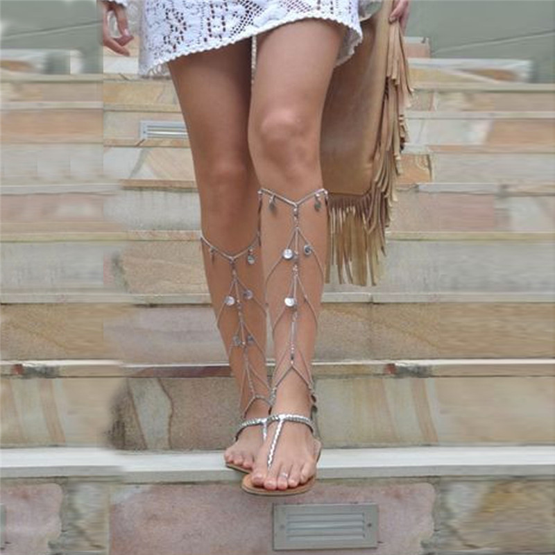 Summer Women Anklets Beach Multilayer Leg Chain Boho Ethnic Hippie Tassel Coin Foot Jewelry Bohemia Style 450127