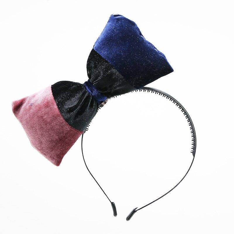 2018 nuevo estilo de invierno terciopelo de la manera grandes arcos diadema colores surtidos hairband DE LA MANERA muchachas