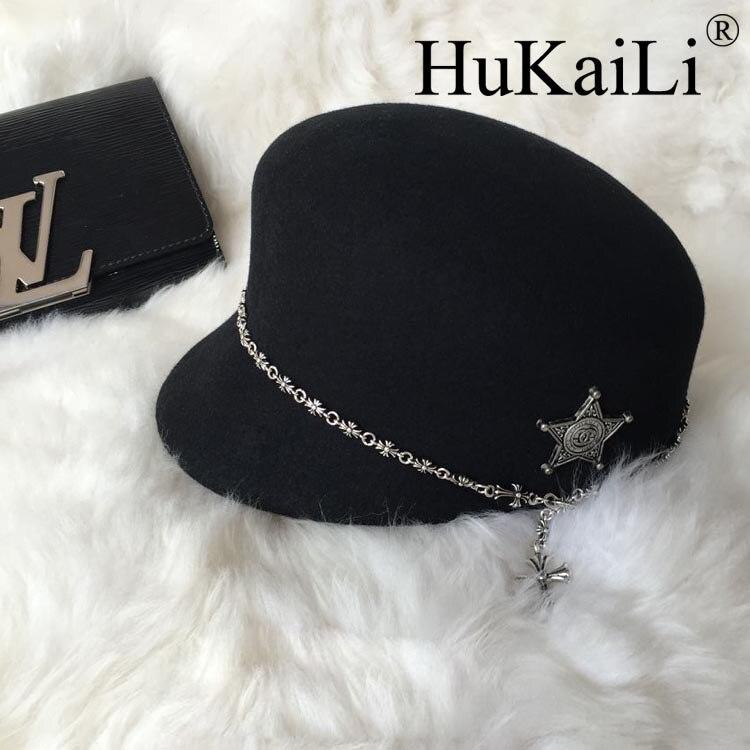 Le nouveau gouttières courtes cap Corneille coeur chaîne pentagramme parure personnalité bonnet