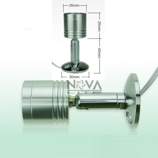 4lighting 2driver Surface Mounted Aluminum Wall Lamp Mini Spot Headboad Reading Wall Lamp 1W