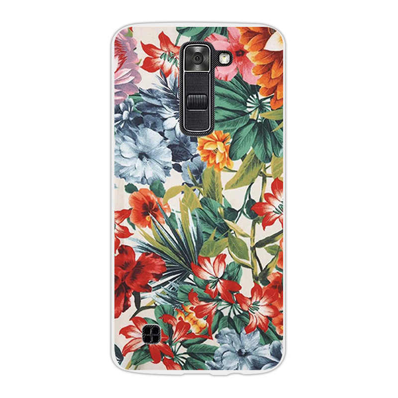 Cho LG LG K7 K330/Tribute 5 LS675/X210 X210DS Thời Trang Cover Quay Lại Fundas đối VỚI LG K7 TPU Siêu Mỏng Mềm Silicon Sư Tử Trường Hợp Điện Thoại