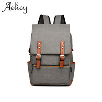 Aelicy Unisex Bag Canvas Backpack Women Oxford Travel Bags Retro Backpacks For Teenager School Bag Famous Brands Mchila Mochilas