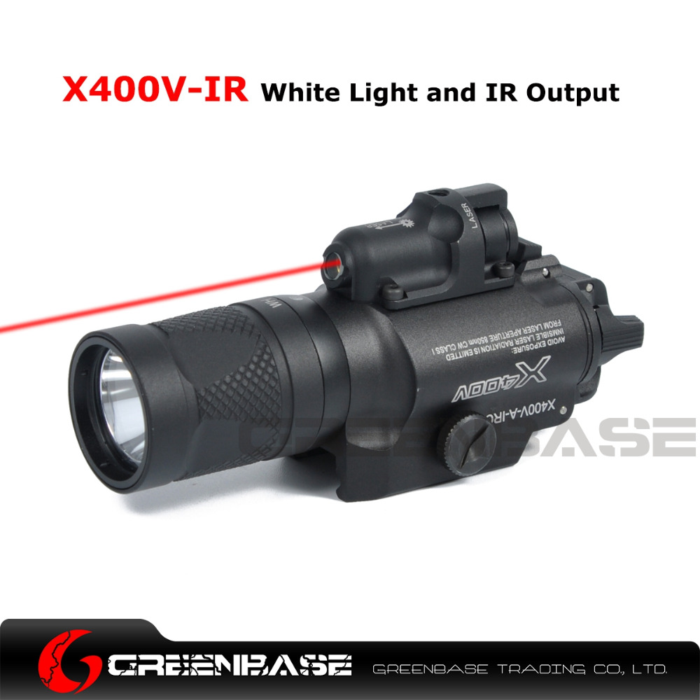 Greenbase SF X400V-IR Flashlight Tactical LED Weaponlight Pistol Flashlight White and IR Output Fit 20mm Picatinny Rail