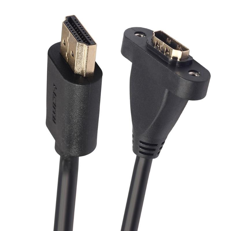 REXUS Gold Plated V1.4 <font><b>HDMI</b></font> Extension Cable Male to Female With Screw Panel Mount for PS3/for XBOX <font><b>30cm</b></font> 60cm 1.2m image