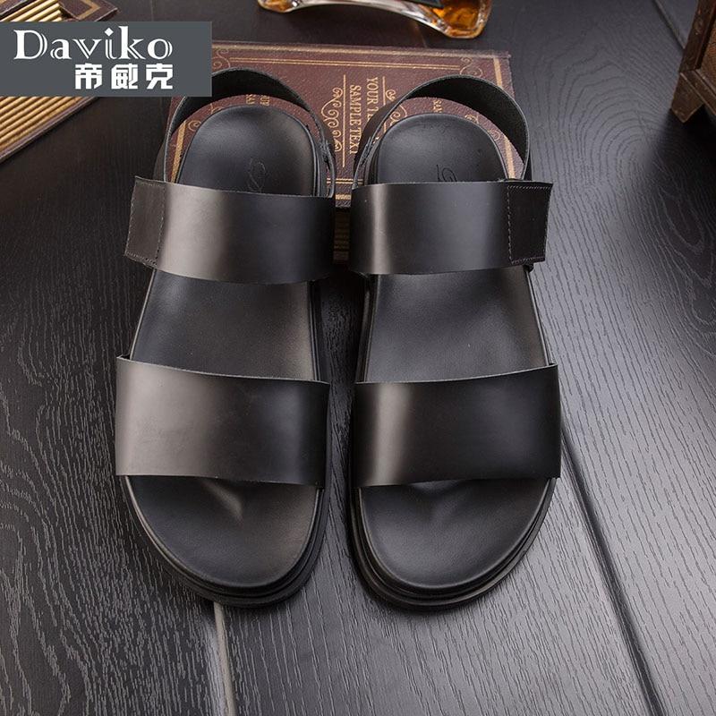 Leather roman sandals male summer thick men sandals casual breathable non-slip sandals shoes sandals men RL312