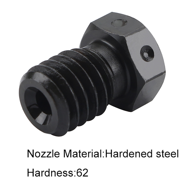 Image 4 - Hardened Steel V6 Nozzles For High Temperature 3D Printing Pei Peek Carbon Fiber Filament For Titan Aero Hotend-in 3D Printer Parts & Accessories from Computer & Office