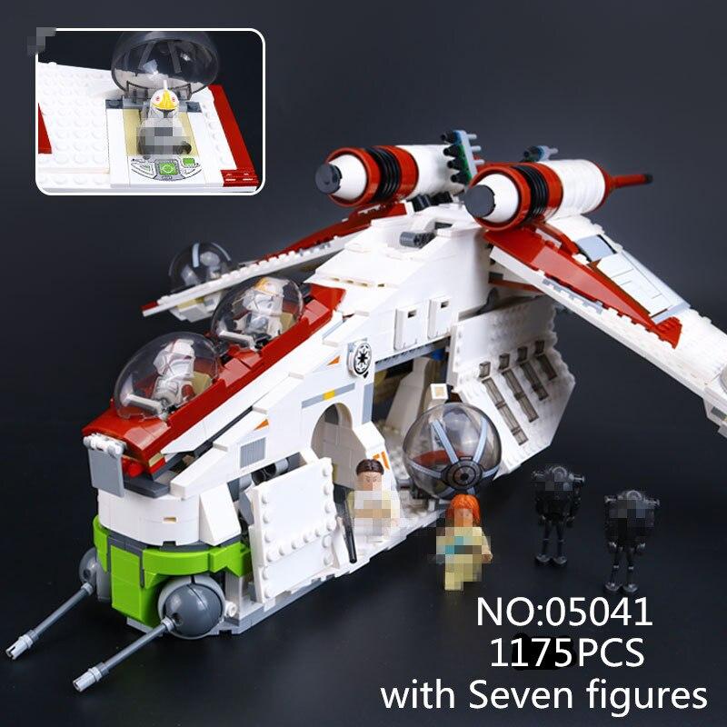New 05041 Genuine StarWar Series The The Republic Gunship Set Educational Building Blocks Bricks Toys набор плетение из фольги диадема 50041 05041