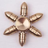 Bullet Head Design Copper Toy Hand Spinner Metal Tri Fidget Spinner Anti Stress New Year Gift