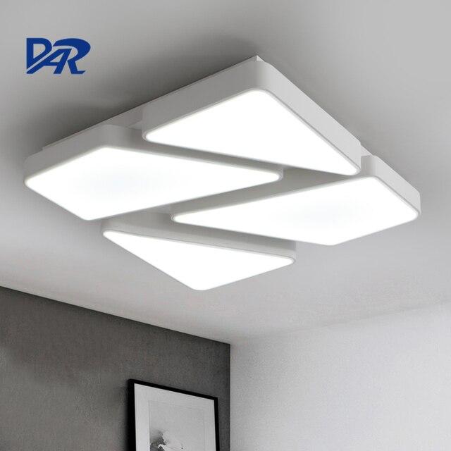 moderne plafond verlichting voor woonkamer slaapkamer zwartwit iron body acryl schaduw led plafondlamp luminaria