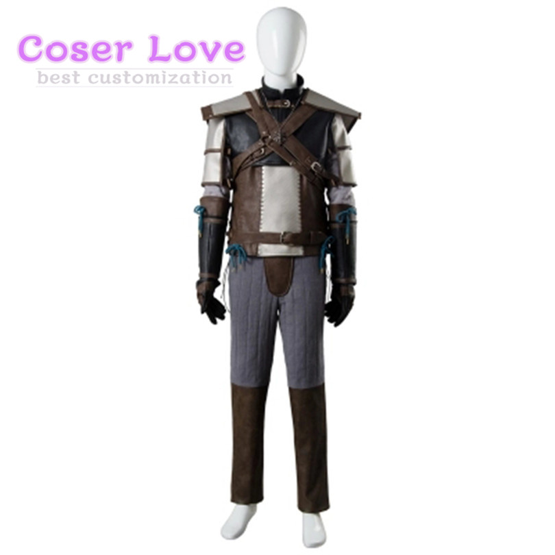 Livraison gratuite! Le sorceleur 3 Geralt de Rivia Cosplay Costume Cosplay déguisement Halloween noël