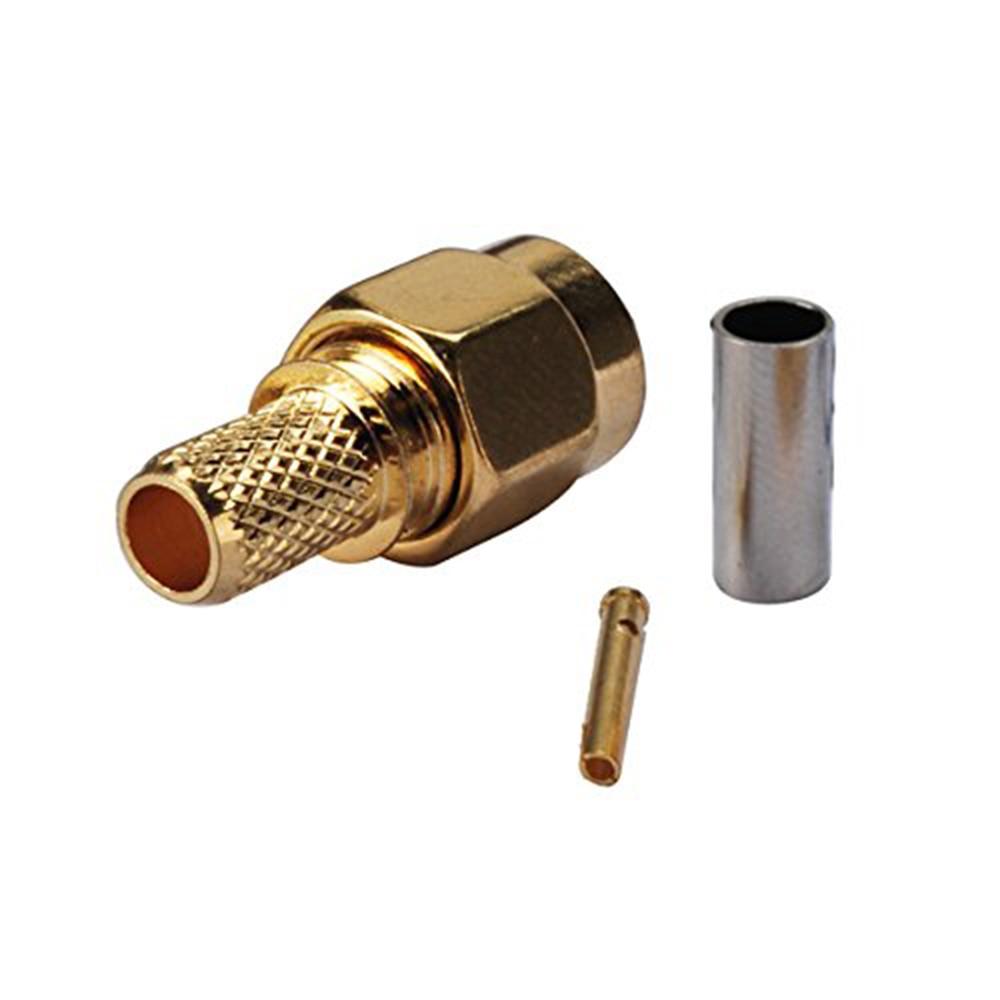 Allishop Rp Sma Male Plug Rf Coax Connector Crimp For Rg58