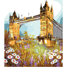 WEEN Bridge landscape-DIY Framed Oil Painting By Numbers kit, Wall Art Pictures, Canvas Paint For Living Room 40x50cm