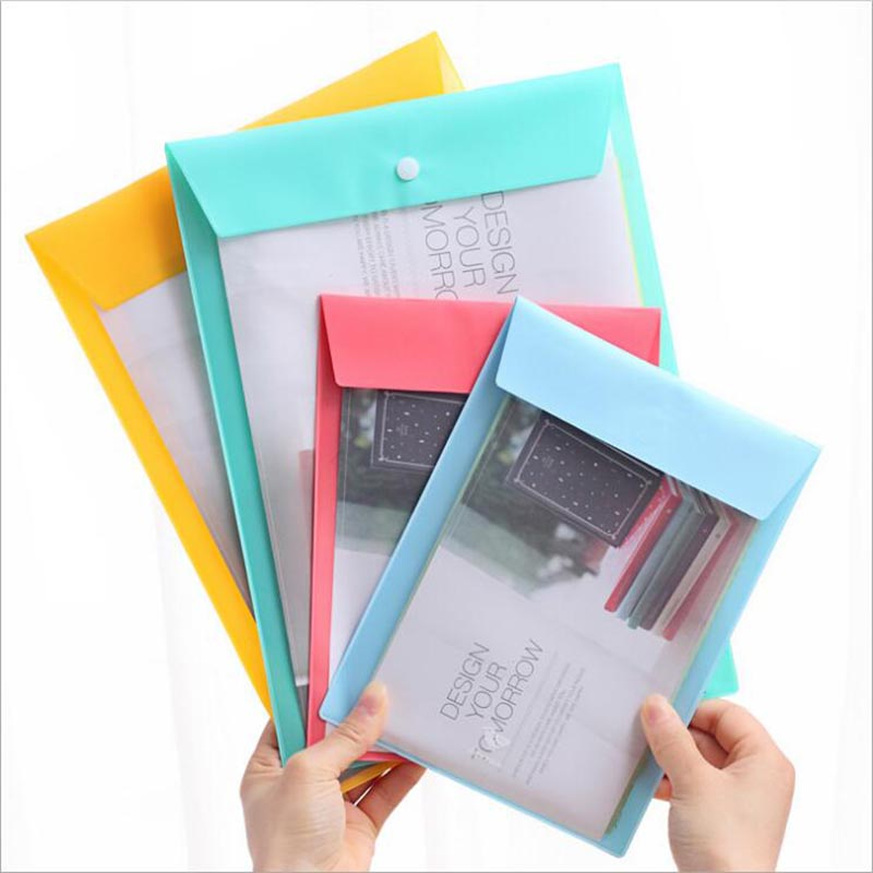 1PCS Portable A4 Travel Bag PVC Waterproof Document Bag Office And School File Storage Organization Multi-function Snap Storage