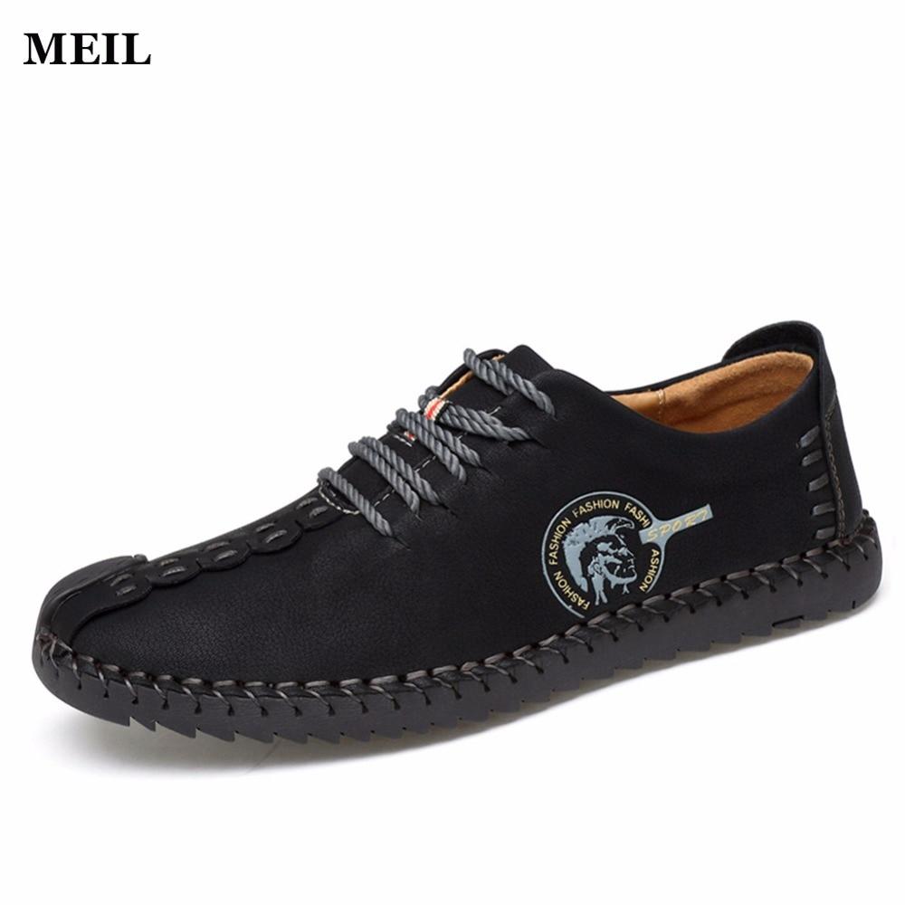 Miesten suurikokoinen kesä hengittää vapaasti käsintehtyjä kenkiä Uudet mokasiinit Vapaa-ajan kengät Merkki suunnittelija-asunnot Loafers miehille