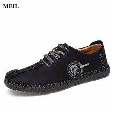 Men's Big Size Summer Breathe Freely Handmade Driving Shoes New Moccasins Casual Shoes Brand Designer Flats Loafers For Men
