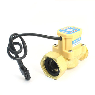 3/4PT Male to 1PT Female Thread Water Heater Flow Sensor Flowmeter 0.75-5L/Min 220V