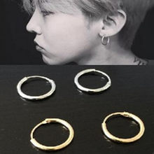 New fashion jewelry zinc alloy circle earrings ear rings couple of men and women free shipping(China)