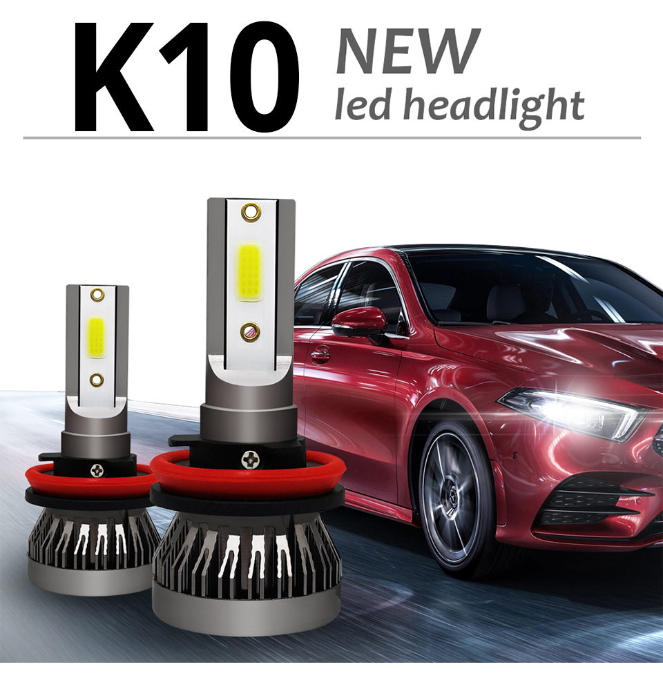 2Pcs Meetoo Motorcycle Headlight H7 Led bulb HB3 HB4 H11 9006 8000LM Motorbike Light White 6500K Moped Scooter Outdoor Lighting (1)