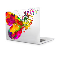 Special Butterfly Phoenix Pattern Print Transparent Clear Hard Cover Laptop Case Sleeve For Air 11 13