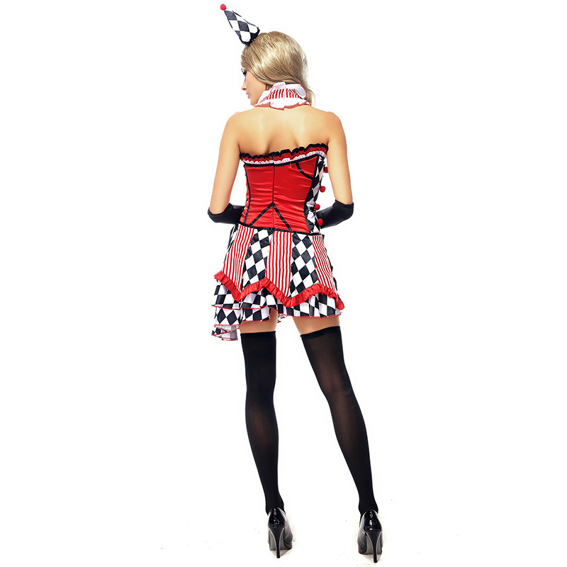 free shipping New Jesterina Tricksterina Harley Quinn Halloween Cool Clown Fancy Dress Costume-in Sexy Costumes from Novelty u0026 Special Use on Aliexpress.com ...  sc 1 st  AliExpress.com & free shipping New Jesterina Tricksterina Harley Quinn Halloween Cool ...