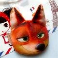 2016 NUEVA Cara del Gato 3D Monedero de la felpa Zootopia Judy Nick Pereza Animales carpeta de la Historieta niño Bolso de Las Mujeres