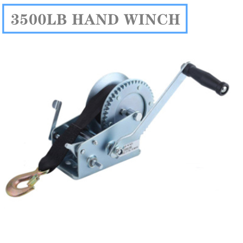 Manual Winch 3500-pound Winder With Ribbon Winch