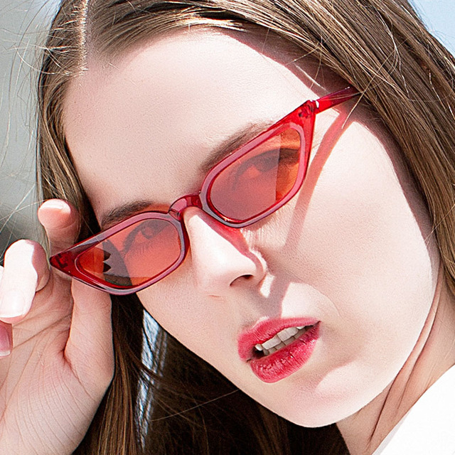 7c8952de59 Small Size Cat Eye Sunglasses Women Outdoor Fashion Trending Sun Glasses  Cateye s Style Eyewear Glasses Female