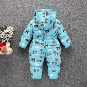 Image 5 - Toddler Baby Down Cotton Cartoon Rompers Newborn Baby clothes snow suit  Winter Thick Warm Children Clothing