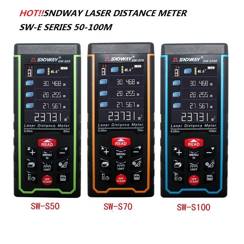 SNDWAY Laser rangefinder SW-S laser distance meter 100M 70M 50M Range Finder distance meter SW-S100 SW-S70 SW-S50 laser meter sw 20w