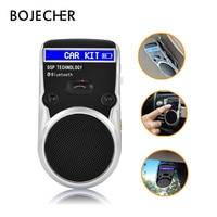 Солнечные громкой связи Беспроводной Bluetooth гарнитуры ЖК-дисплей Дисплей автомобильный комплект для мобильного телефона Hands Free