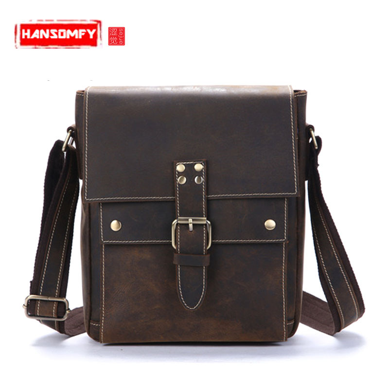 The first layer of leather Men shoulder bag small Vertical section Bag diagonal package sand skin mens messenger bagThe first layer of leather Men shoulder bag small Vertical section Bag diagonal package sand skin mens messenger bag