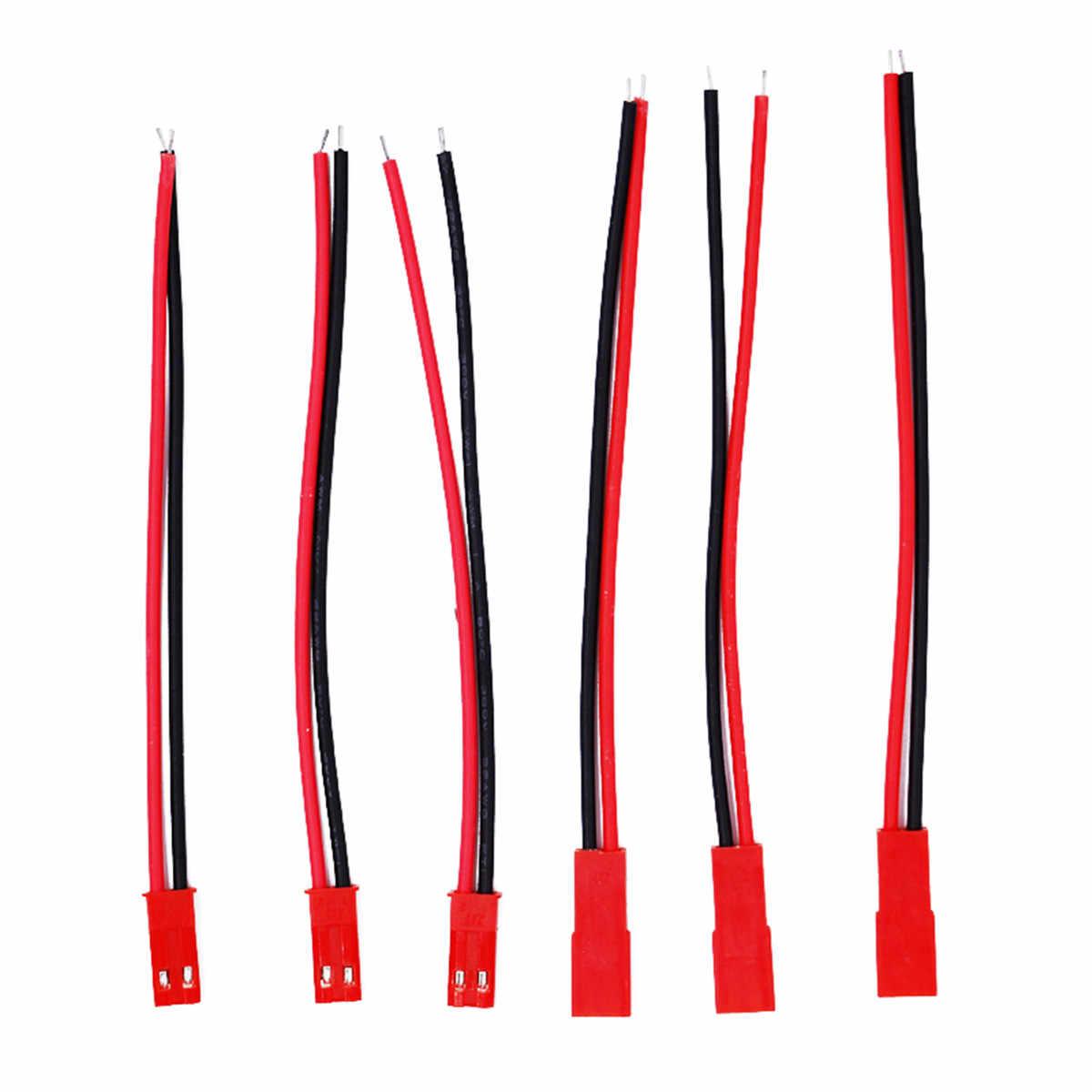 10 пар 22AWG 2 Pin JST мужской разъем провода кабель с 100 мм для провода электрического кабеля для RC игрушки 40% Off