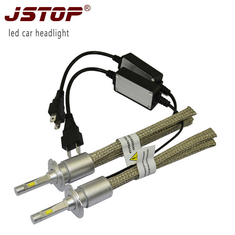 JSTOP Fabia Octavia Superb Yeti Rapid Car Led Headlights 12-24VAC 6000K H1 H3 H7 H4 LED high/low beam Auto Front Bulb Headlamps