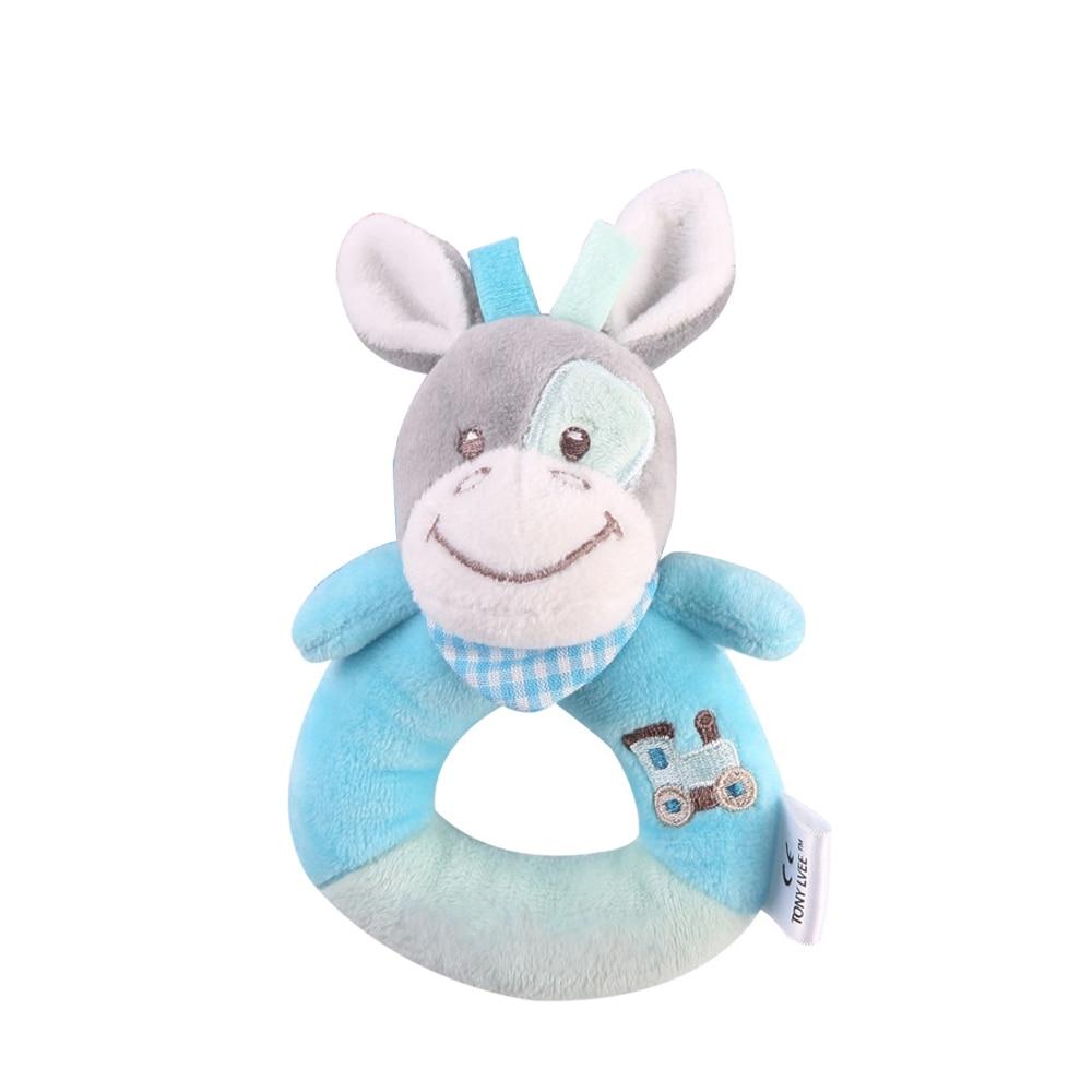 Детские погремушки Fulljion, развивающие игрушки для детей, Прорезыватель для зубов, Колокольчик для малышей, детская коляска, подвесные куклы - Цвет: donkey