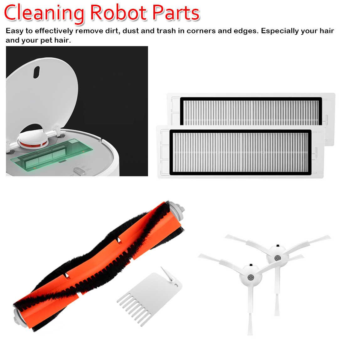 Чистящие роботы аксессуары комплект для робота вакуумные запасные части пакет фильтр боковой ролик Главная щетка Швабра