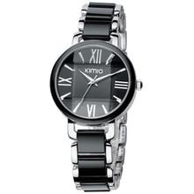 Kimio Brand Women Imitation Ceramic Watches Bracelet Quartz Watch Big Dial Wristwatches Ladies Stainless Steel Bracelet Watch цена и фото