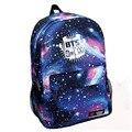 2016 Mochila Portátil de Moda Galaxy Impreso BTS Bolsa de La Escuela Para Las Niñas Adolescentes Hombres de la Lona Mochila Escolar Mochila de Viaje Ocasional